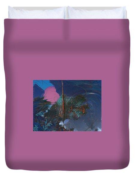 Fractal Sunset Duvet Cover