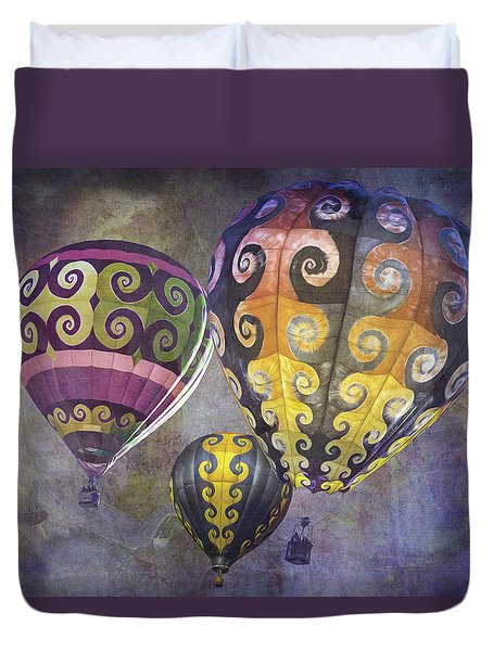 Duvet Cover featuring the photograph Fractal Trio by Melinda Ledsome