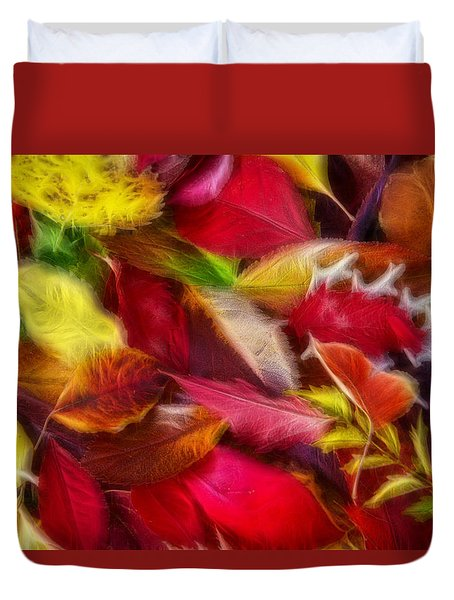 Duvet Cover featuring the photograph Fractalius Leaves by Shane Bechler