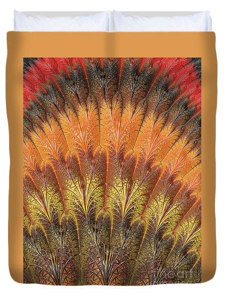 Fractalized Feather Fan Duvet Cover