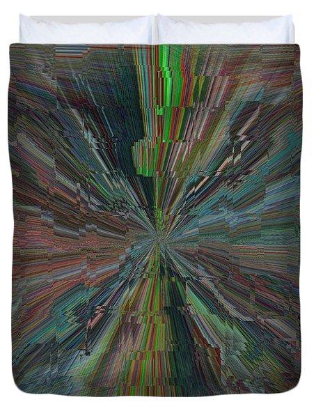 Fractured Frenzy Duvet Cover by Tim Allen