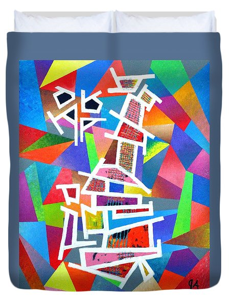 Fractured Instrument Of Love Duvet Cover