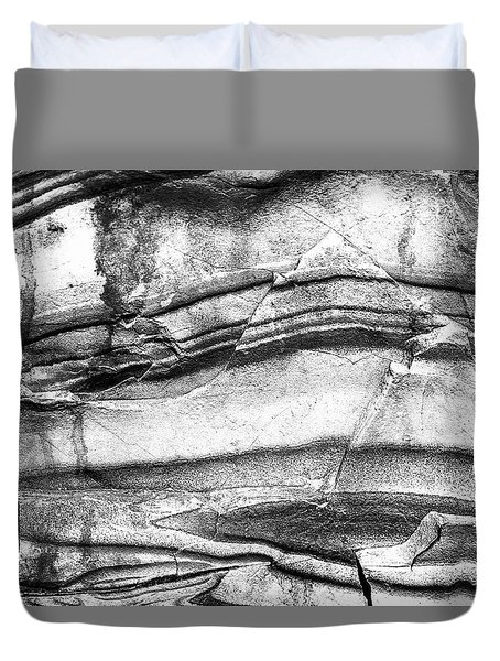Duvet Cover featuring the photograph Fractured Rock by Onyonet  Photo Studios