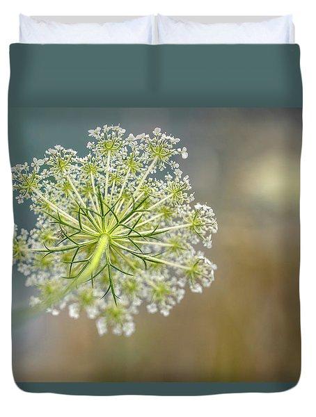 Fragile Dill Umbels On Summer Meadow Duvet Cover