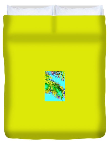 Fragment Of Coconut Palm Psychedelic Duvet Cover
