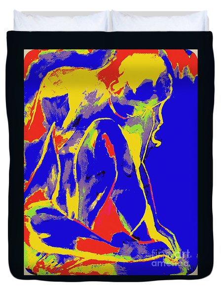 Fragmentary Girl Duvet Cover