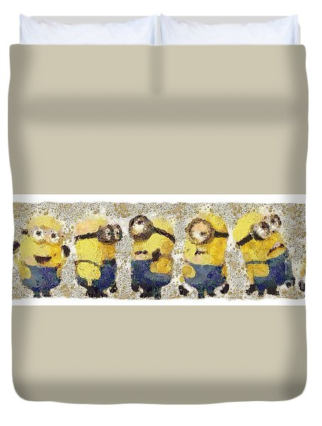 Fragmented And Still In Awe Congratulations Minions Duvet Cover