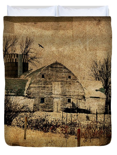 Fragmented Barn  Duvet Cover