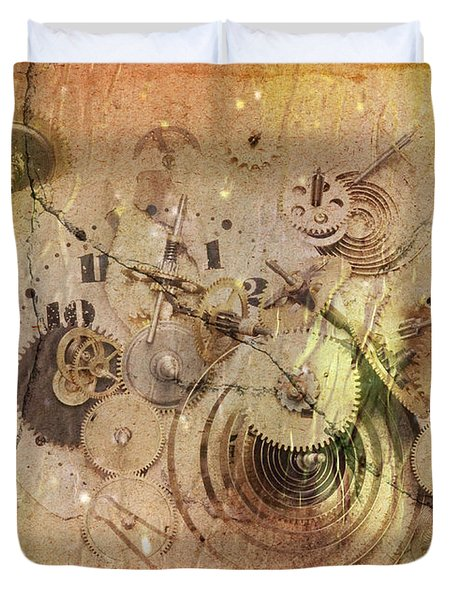 Fragmented Time Duvet Cover by Michal Boubin