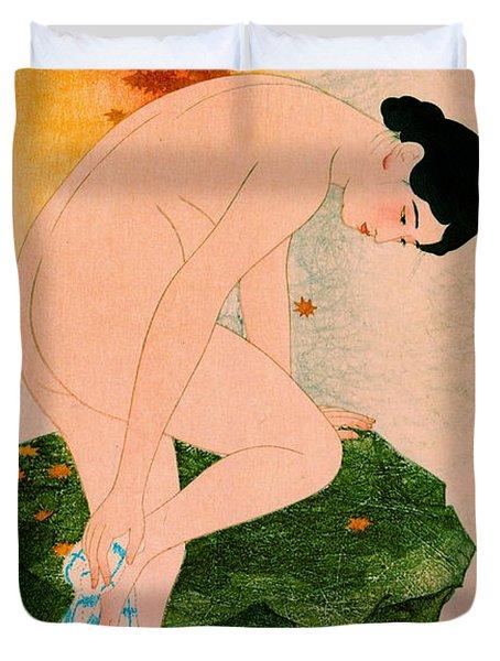 Fragrant Bath 1930 Duvet Cover