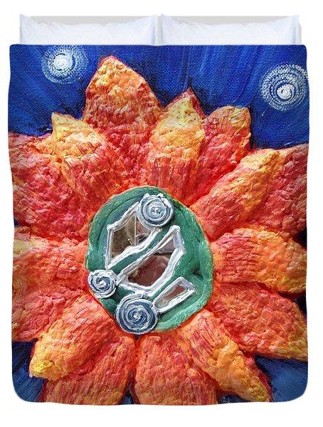 Fragrant Planet Duvet Cover by Catt Kyriacou