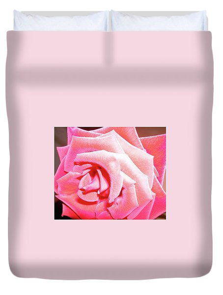 Duvet Cover featuring the photograph Fragrant Rose by Marie Hicks