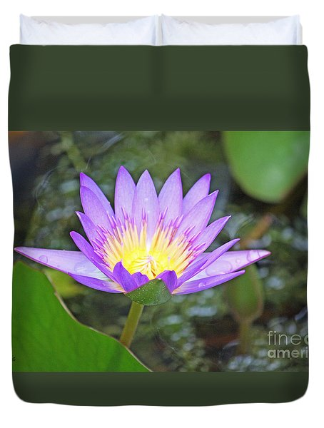 Duvet Cover featuring the photograph Fragrant Water Lily by Terri Mills