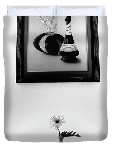 Frame And Flower Duvet Cover by Charuhas Images