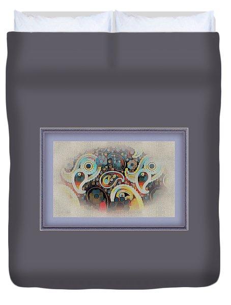Framed Fantasy Duvet Cover