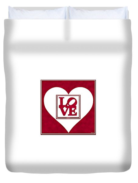 Framed Love I Duvet Cover