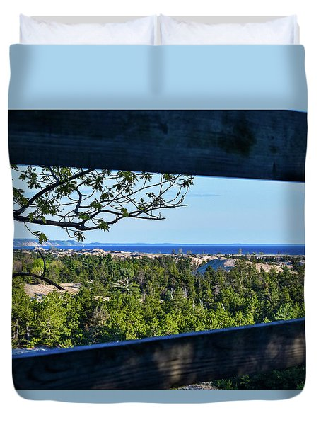 Framed View Duvet Cover