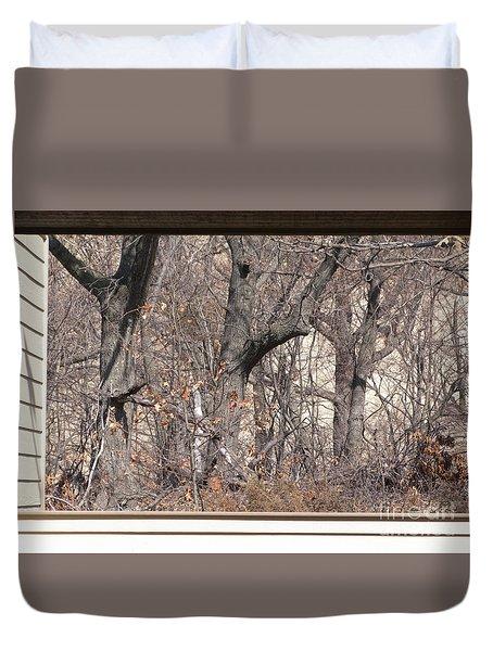 Framing Tangled Dunescape Duvet Cover by Ann Horn