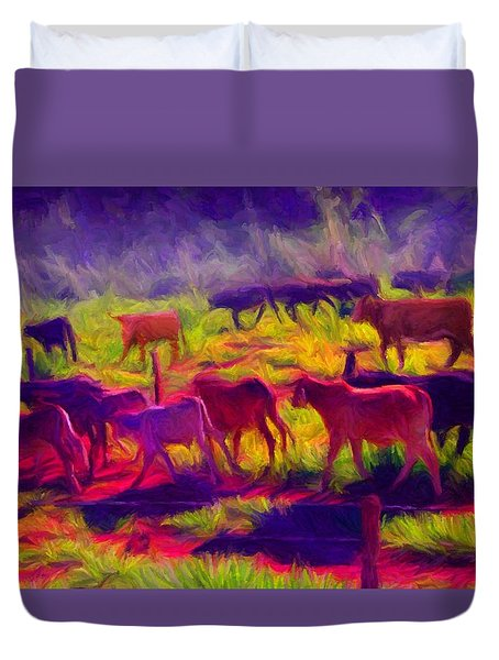 Franca Cattle 1 Duvet Cover