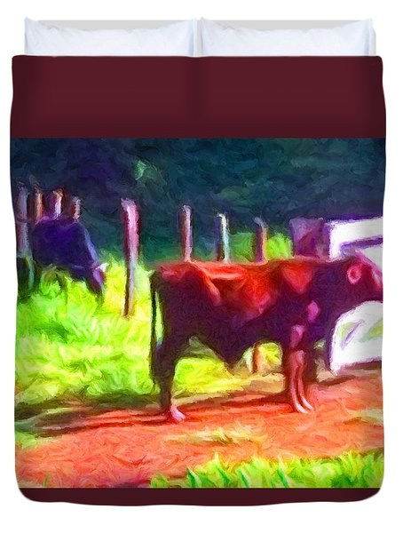 Franca Cattle 2 Duvet Cover
