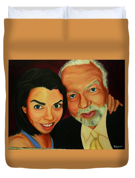 Frances And Angelo Duvet Cover