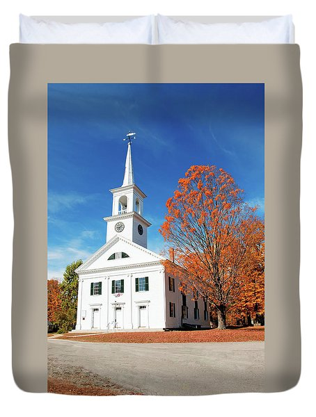 Duvet Cover featuring the photograph Francestown Meeting by Wayne Marshall Chase