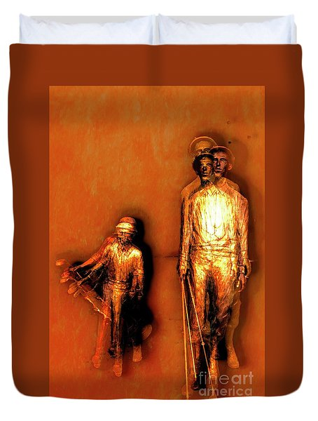 Francis D. Ouimet And Caddy Duvet Cover
