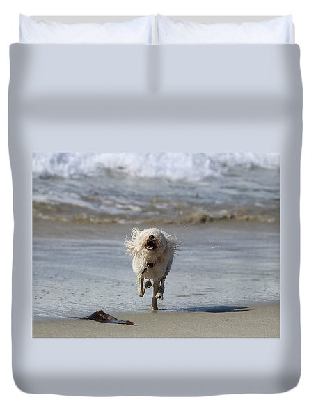 Francis Frockling In The Surf Duvet Cover