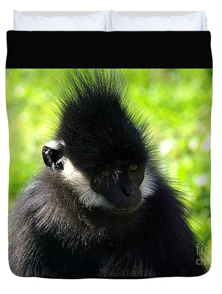 Duvet Cover featuring the photograph Francois Langur by Lisa L Silva