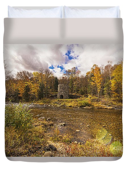 Duvet Cover featuring the photograph Franconia Iron Works by Anthony Baatz