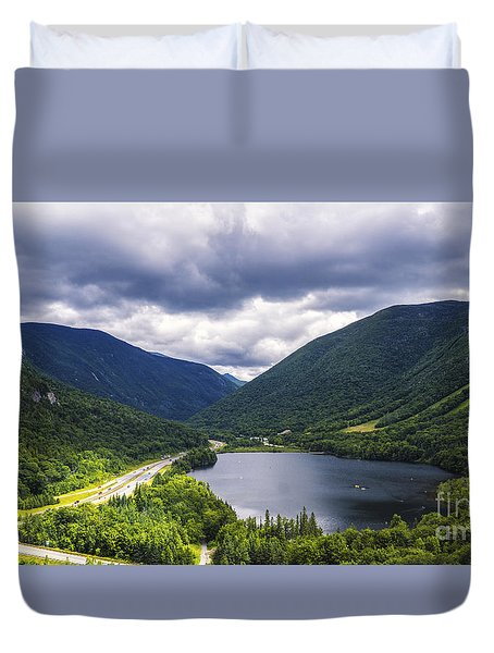 Franconia Notch And Eagle Lake Duvet Cover