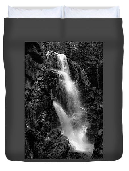 Duvet Cover featuring the photograph Franconia Notch Waterfall by Jason Moynihan