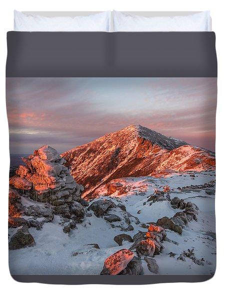Franconia Ridge Alpenglow Duvet Cover