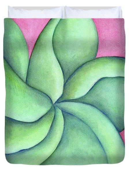Frangipani Green Duvet Cover
