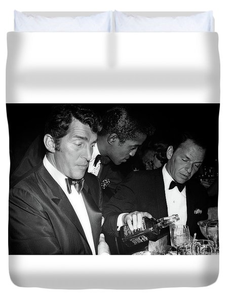 Frank Sinatra Drank American Whiskey His Way Duvet Cover