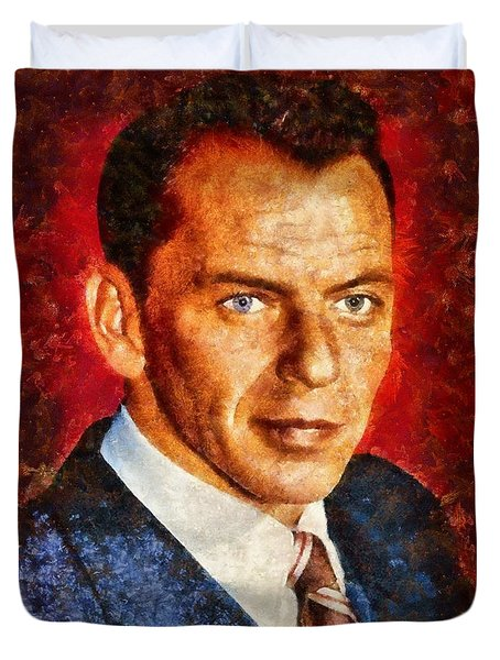 Frank Sinatra Duvet Cover by Esoterica Art Agency
