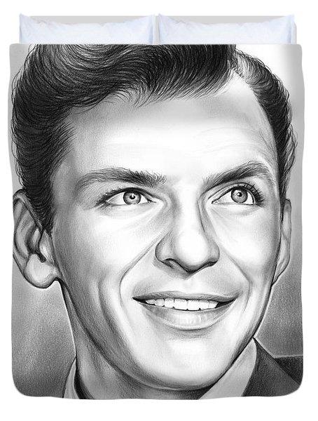 Frank Sinatra Duvet Cover by Greg Joens