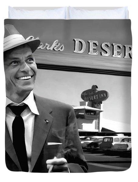 Frank Sinatra In Las Vegas Duvet Cover