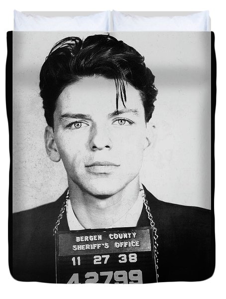 Frank Sinatra Mugshot Duvet Cover