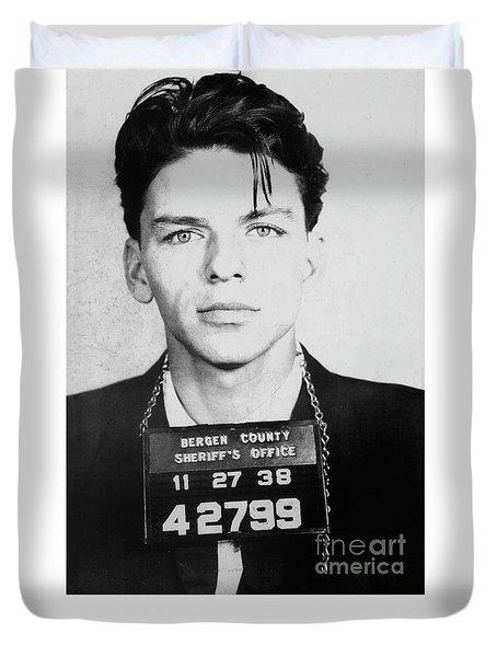 Frank Sinatra Mugshot Duvet Cover by Jon Neidert