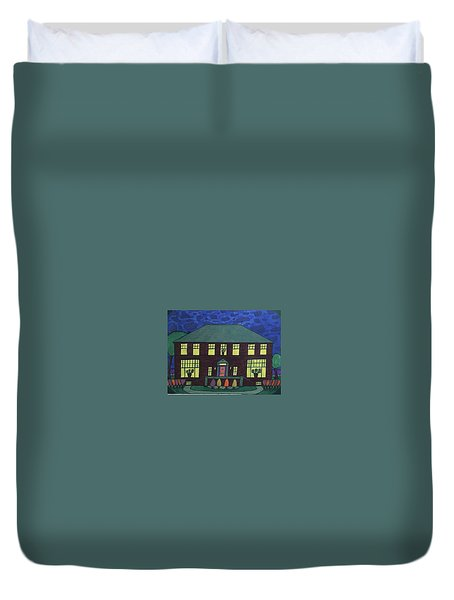 Frank Spies Home. Historical Menominee Art. Duvet Cover