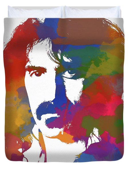 Frank Zappa Watercolor Duvet Cover