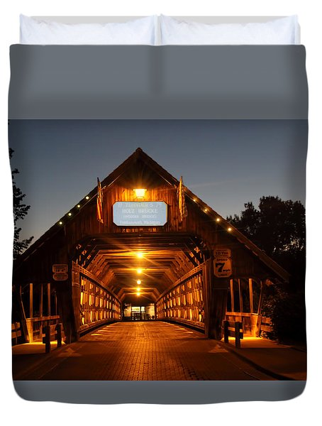 Frankenmuth Covered Bridge Duvet Cover by Pat Cook