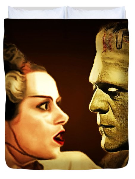 Frankenstein And The Bride I Have Love In Me The Likes Of Which You Can Scarcely Imagine 20170407 Sq Duvet Cover
