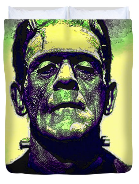 Frankenstein In Color Duvet Cover