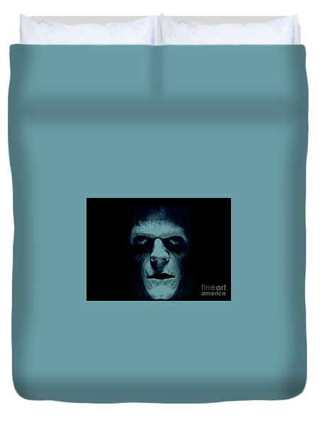 Duvet Cover featuring the photograph Frankenstein by Janette Boyd