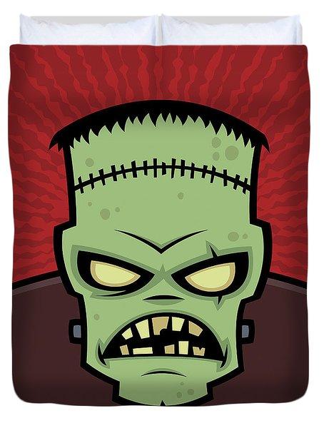 Frankenstein Monster Duvet Cover by John Schwegel