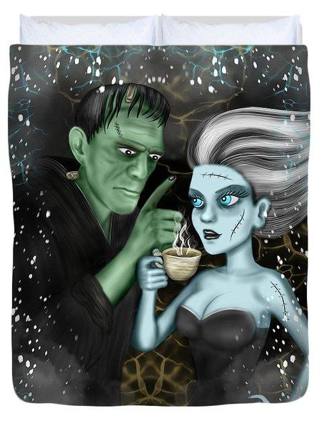 Frankenstien Fantasy Art Duvet Cover