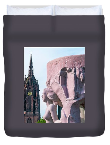 Duvet Cover featuring the photograph Frankfurt 10 by Steven Richman
