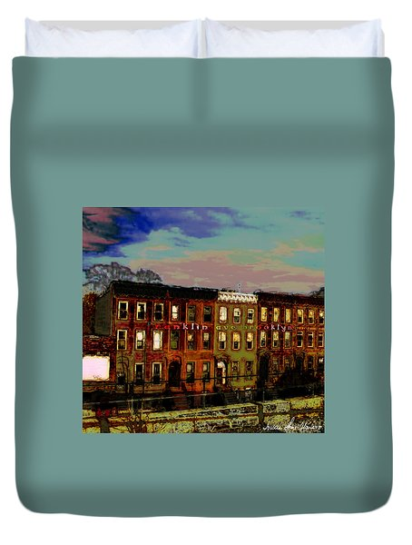 Franklin Ave. Bk Duvet Cover